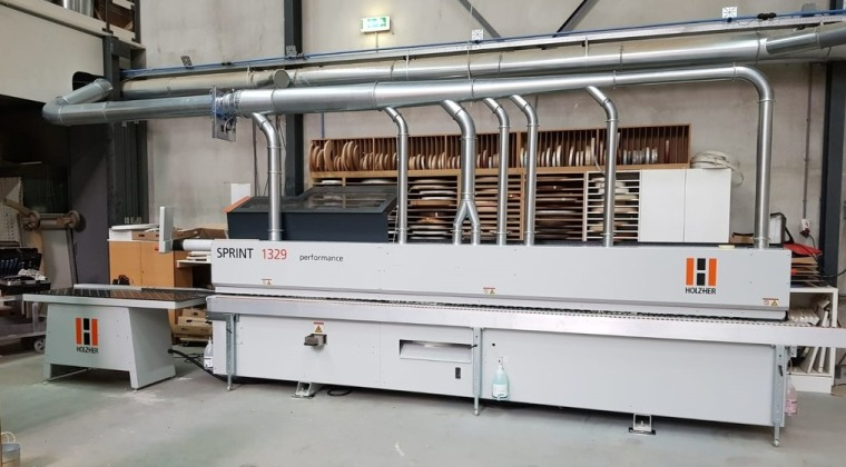 HolzHer Sprint 1329 kantenaanlijmmachine te Eindhoven december 2019